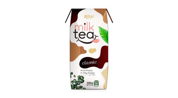 Tea milk drink natural taste