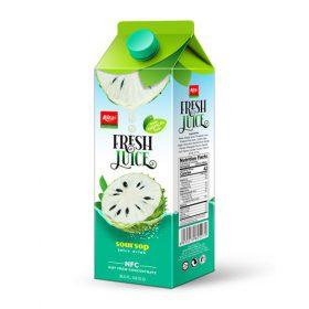 Wholesale Paper Box 1L Soursop Juice