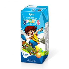 Yogurt 200ml fruit juice aseptic