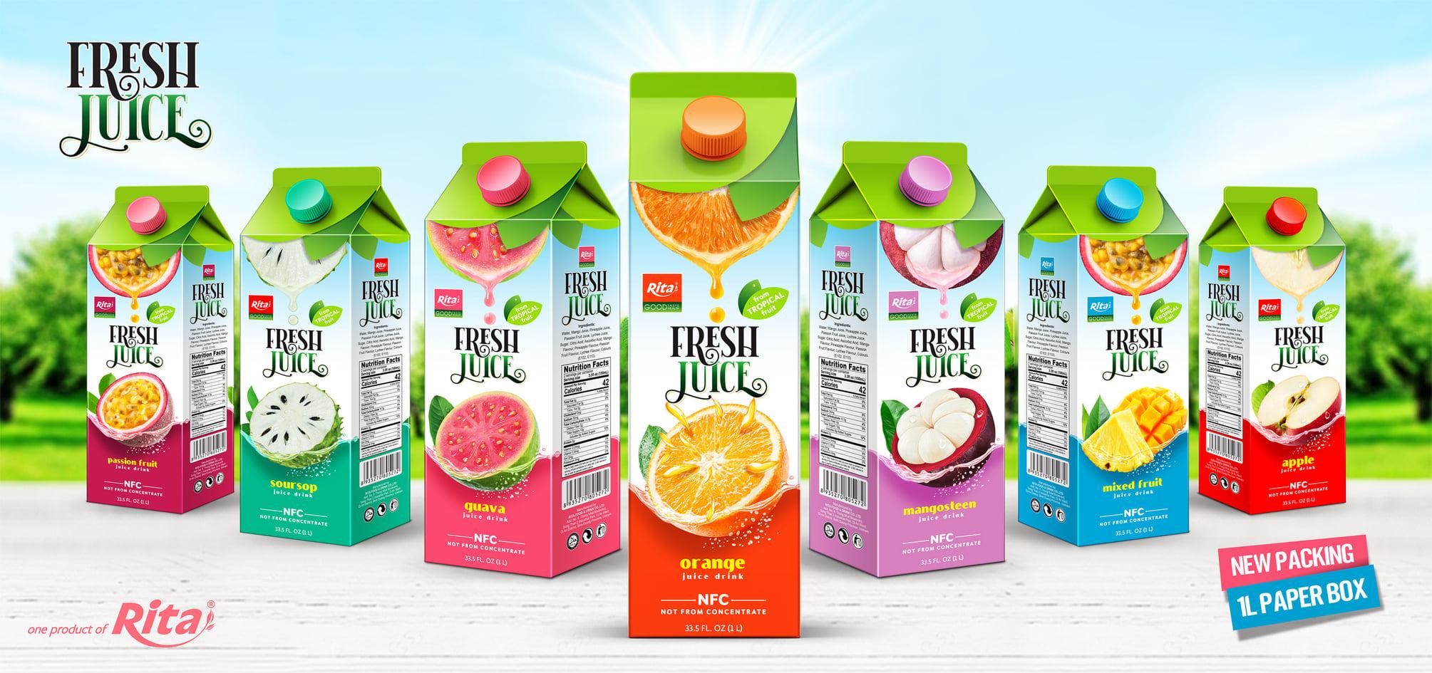 fresh fruit juice from aseptic fruit juice