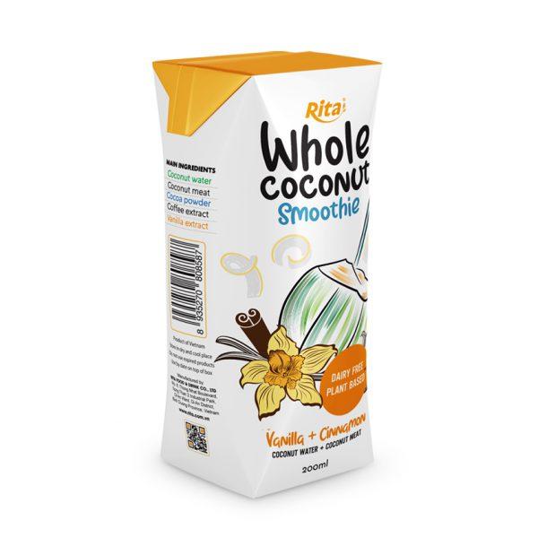 Whole Coconut Smoothie vanilla + cinnamon 200ml aseptic